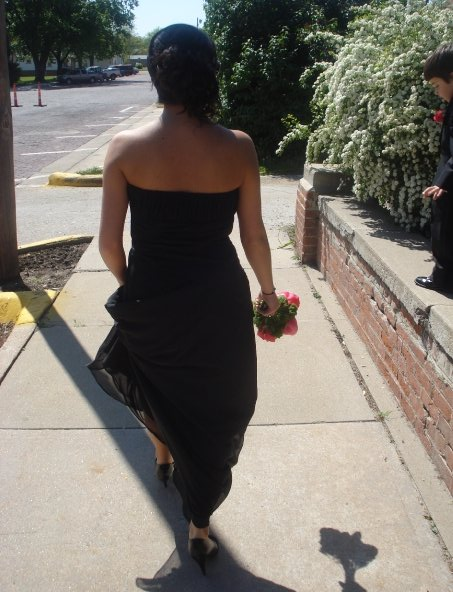 Heading to the reception.