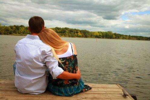 Sittin at the lake