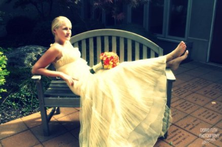 bride on the bench