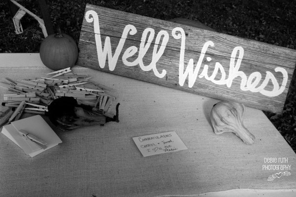 Well wishes table