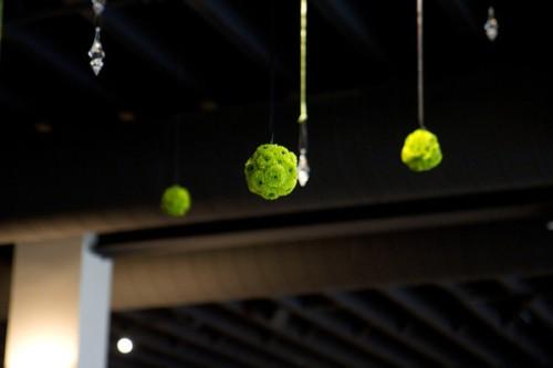 hanging green pomander