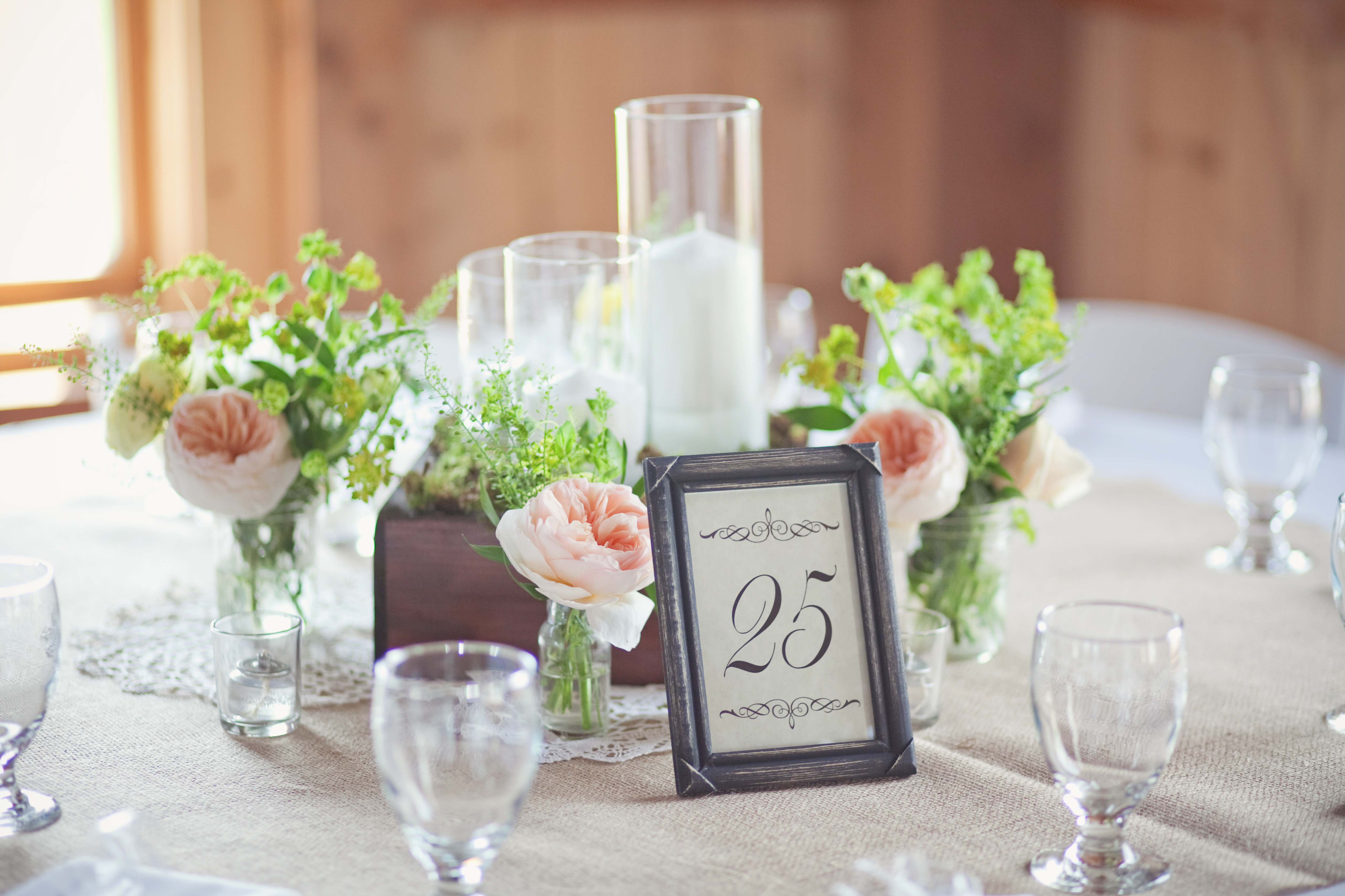 Mason jars hitched planning floral