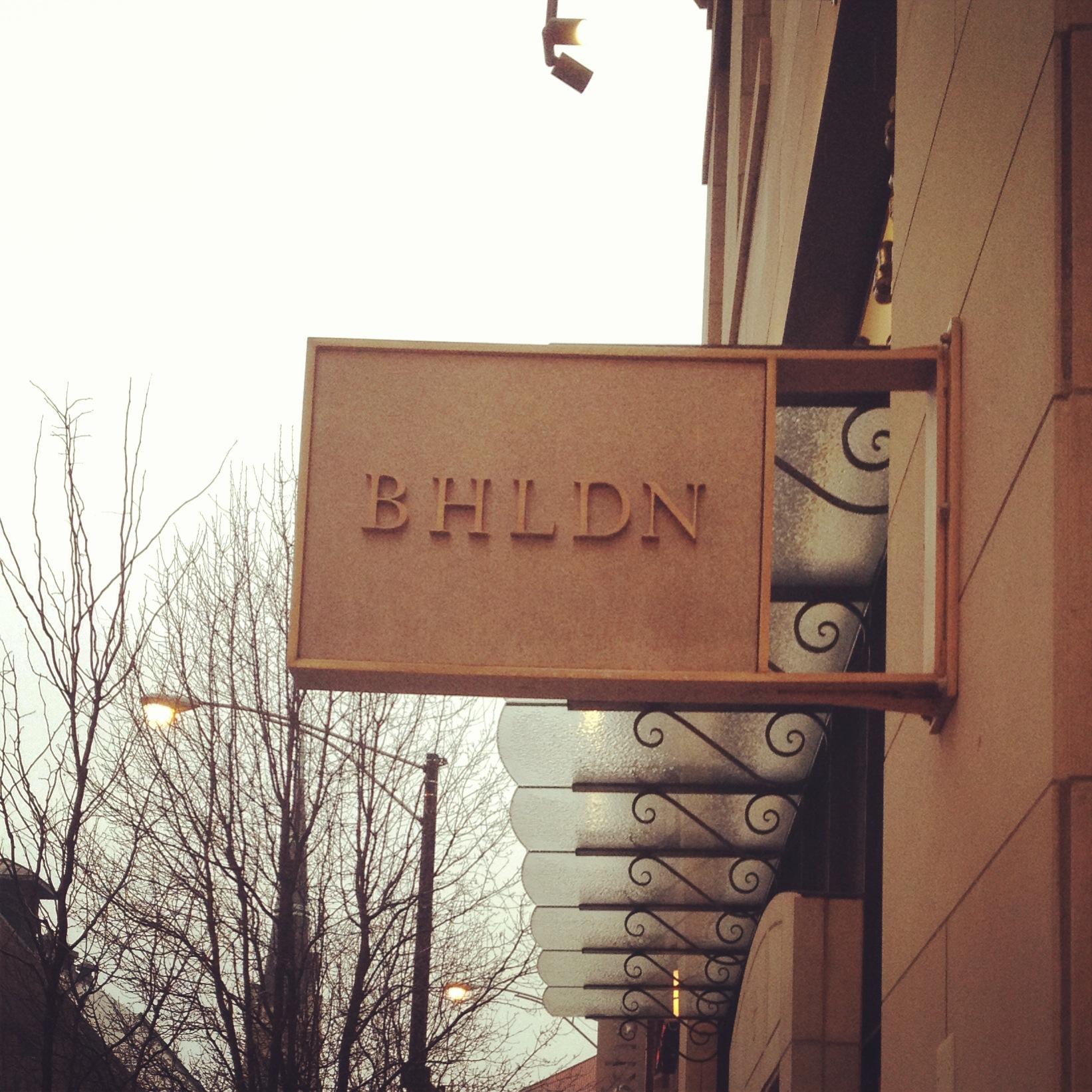 BHLDN Sign