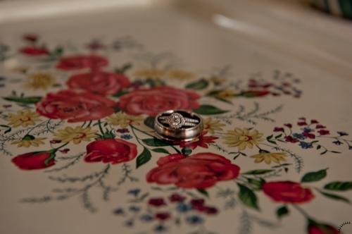 Wedding Rings on Vintage Platter