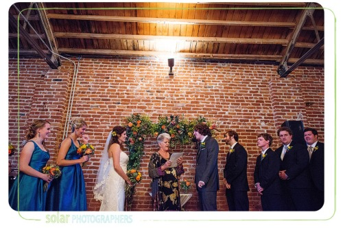 fall loft wedding ceremony