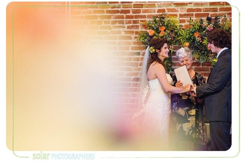 fall loft wedding ceremony