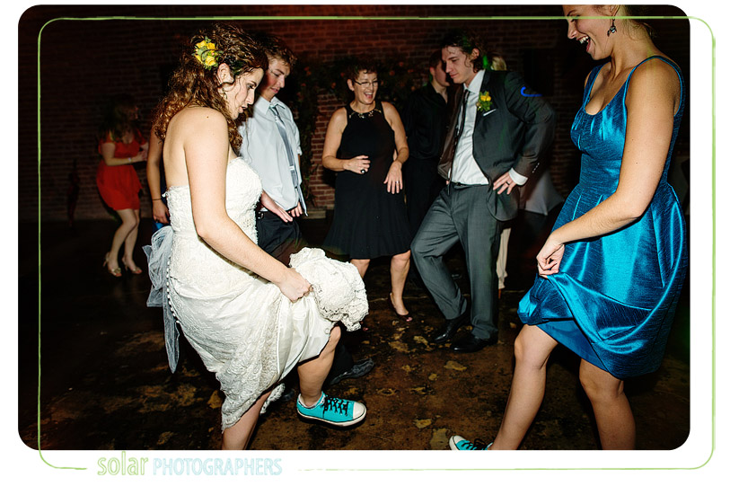 bride turquoise chuck taylors