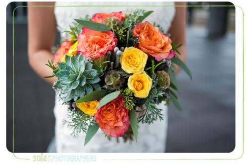 succulent fall bouquet