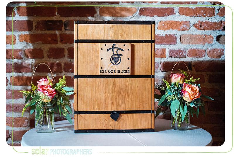 custom wedding wine box
