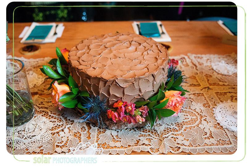 fall grooms cake