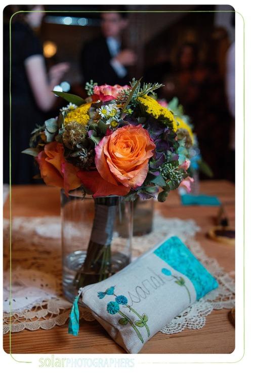 fall bouquet bridesmaids clutch gift