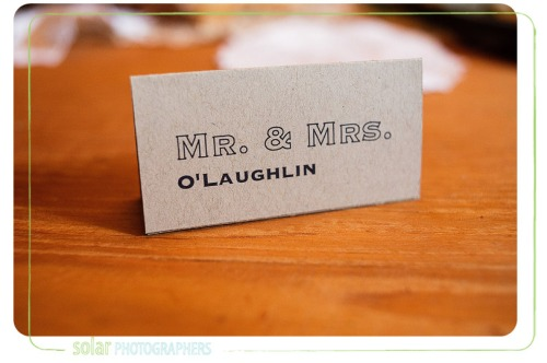 wedding placecard