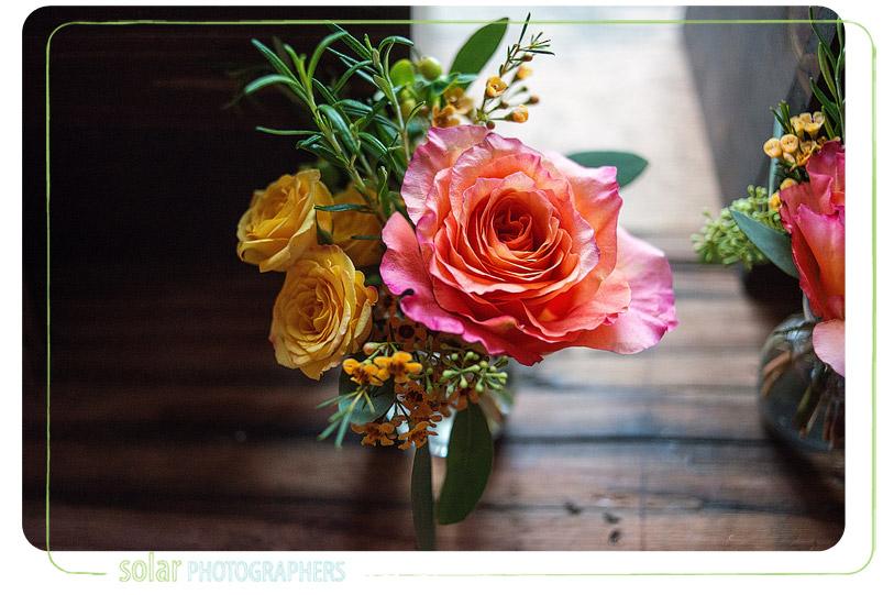 wedding garden rose budvase