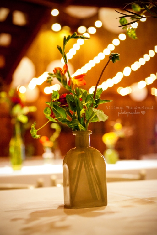 Barn Wedding Bud Vase