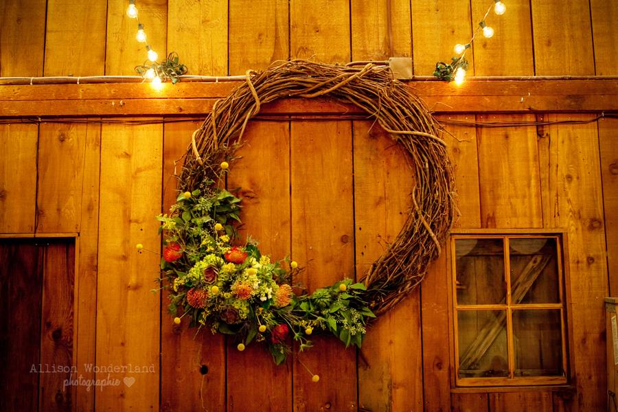 Fall Wedding Grapevine Wreath