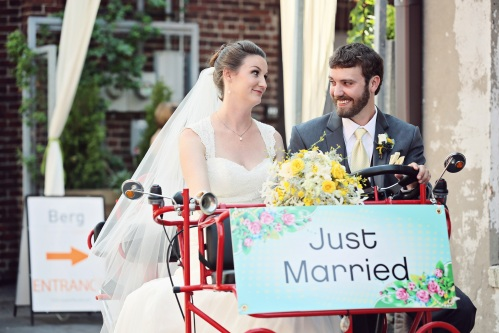 wedding pedal car