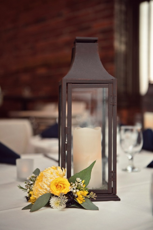 yellow lantern centerpiece