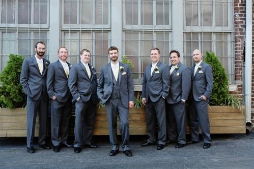 charcoal groomsmen