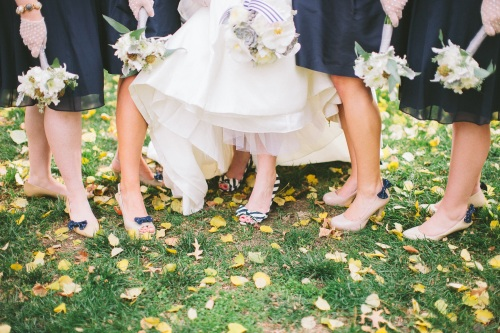 striped bridal shoes