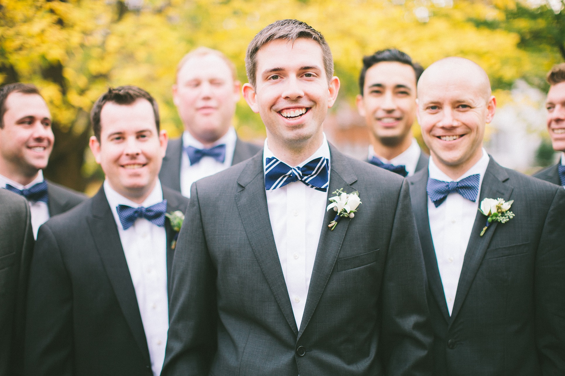striped groomsmen bowtie