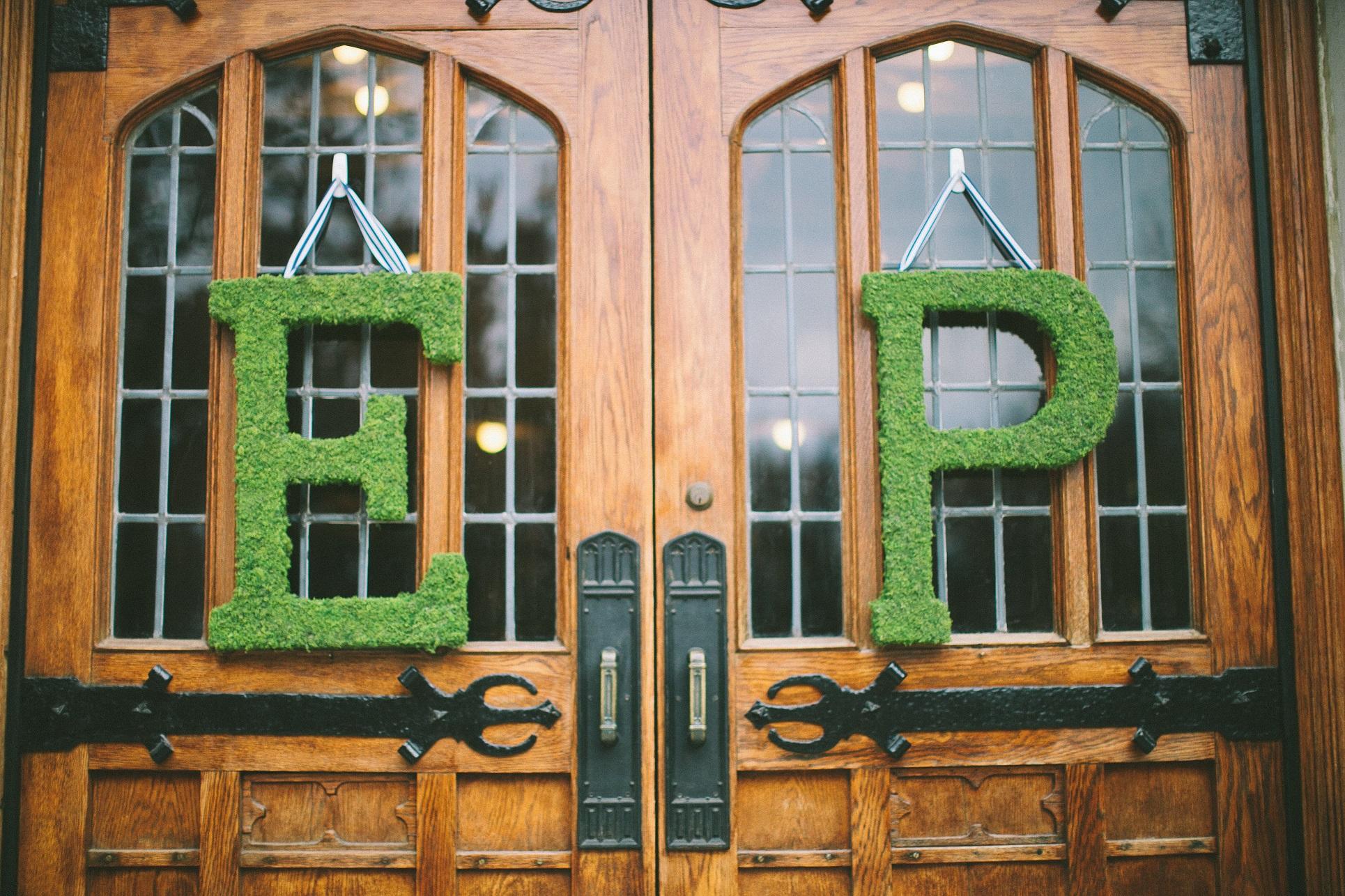 wedding moss initials