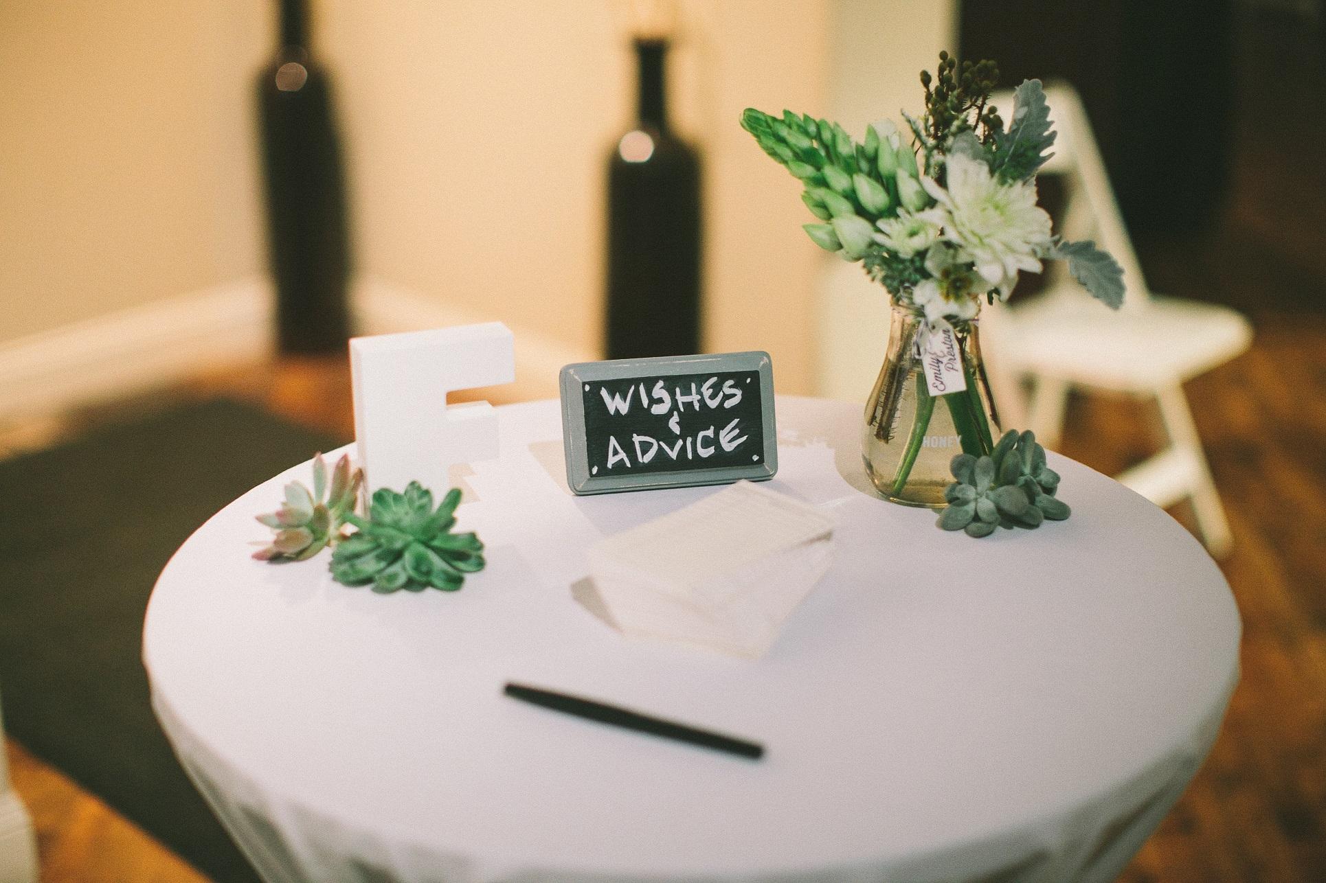 wedding words of advice
