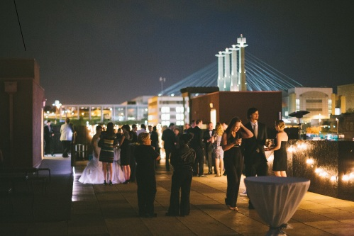 terrace on grand wedding