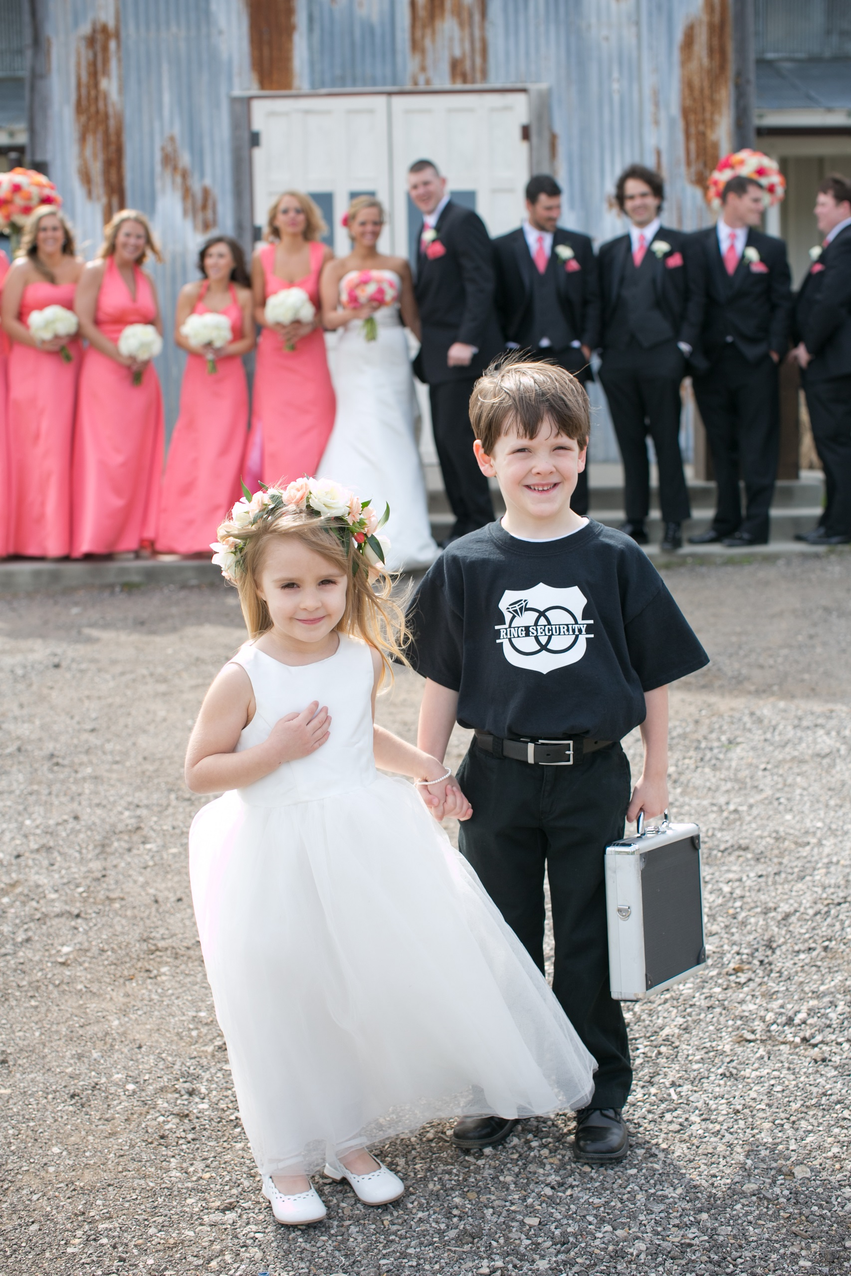 stony point hall wedding party
