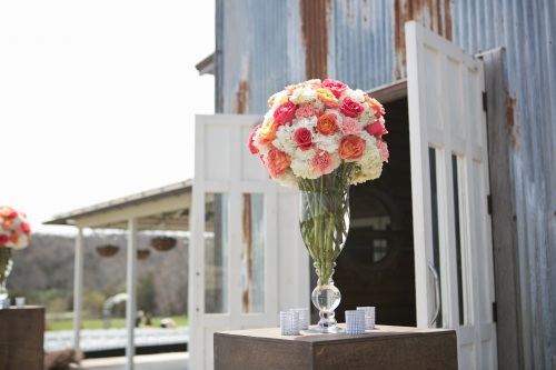stony point hall wedding floral