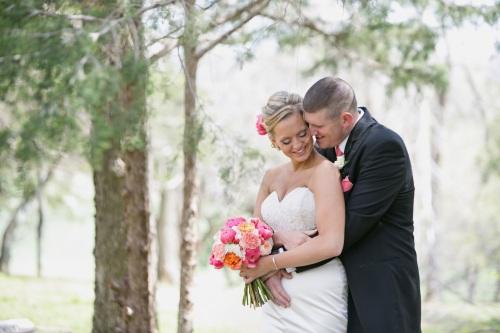 lawrence summer wedding couple