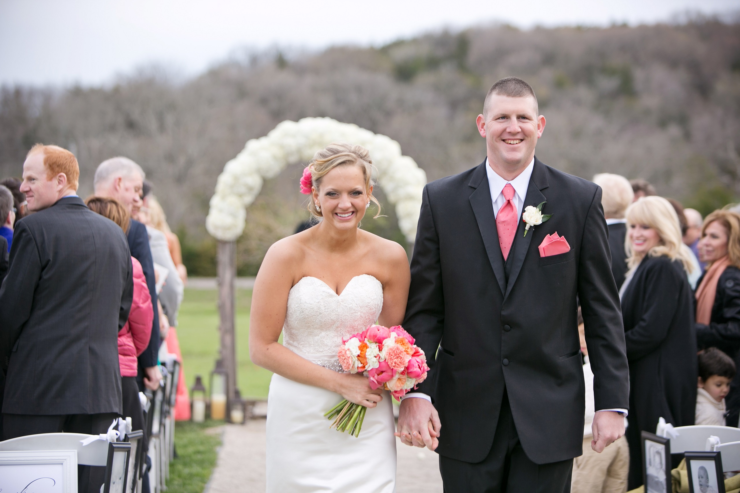 stony point hall wedding ceremony couple