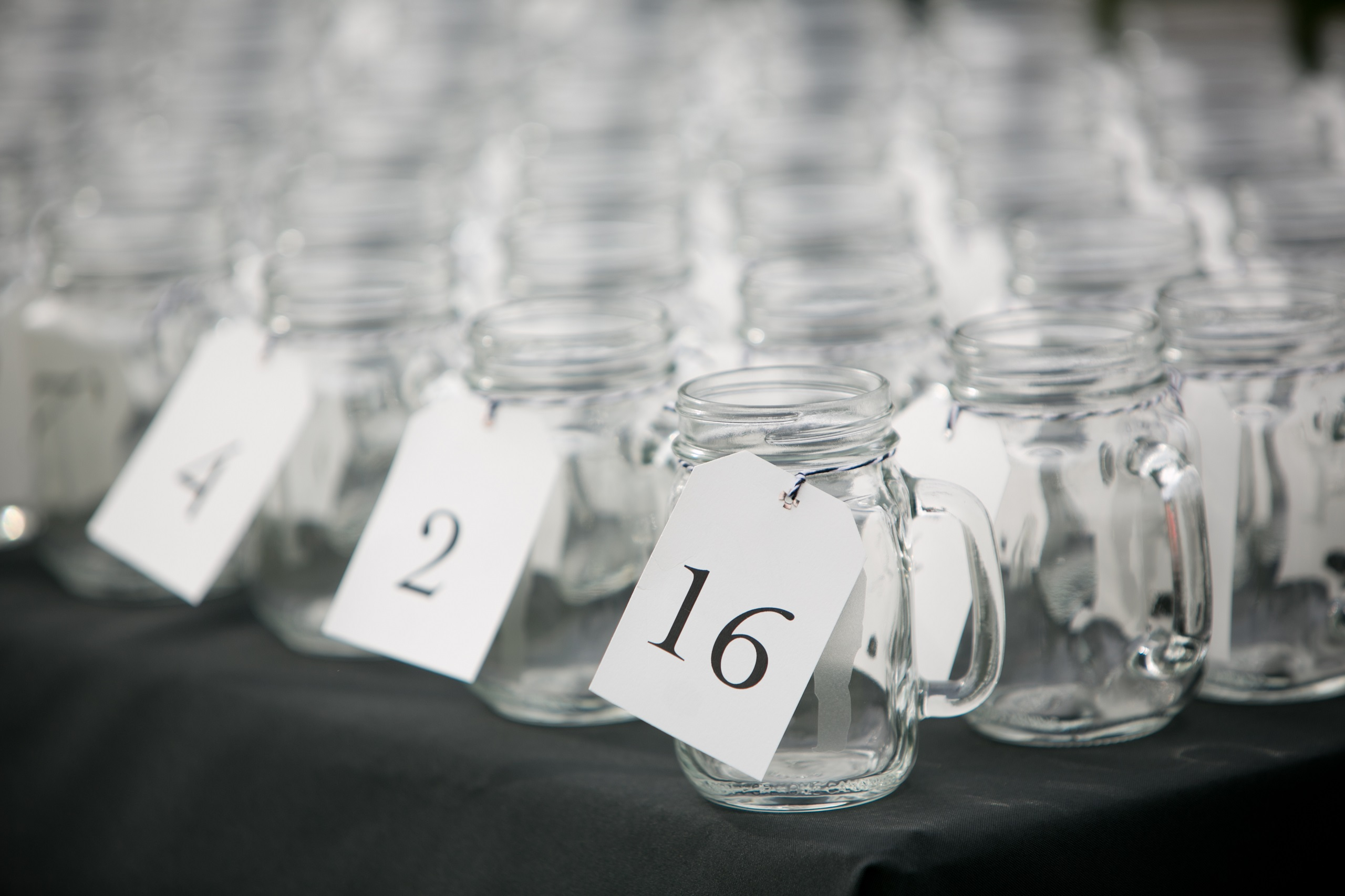 drinking mason jar escort cards