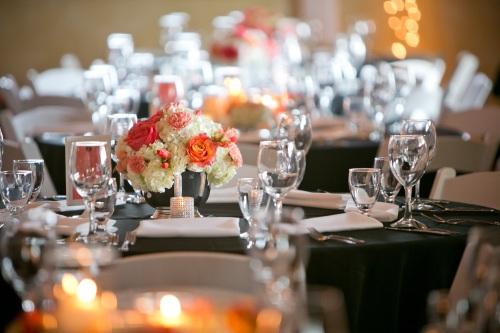 coral wedding centerpiece