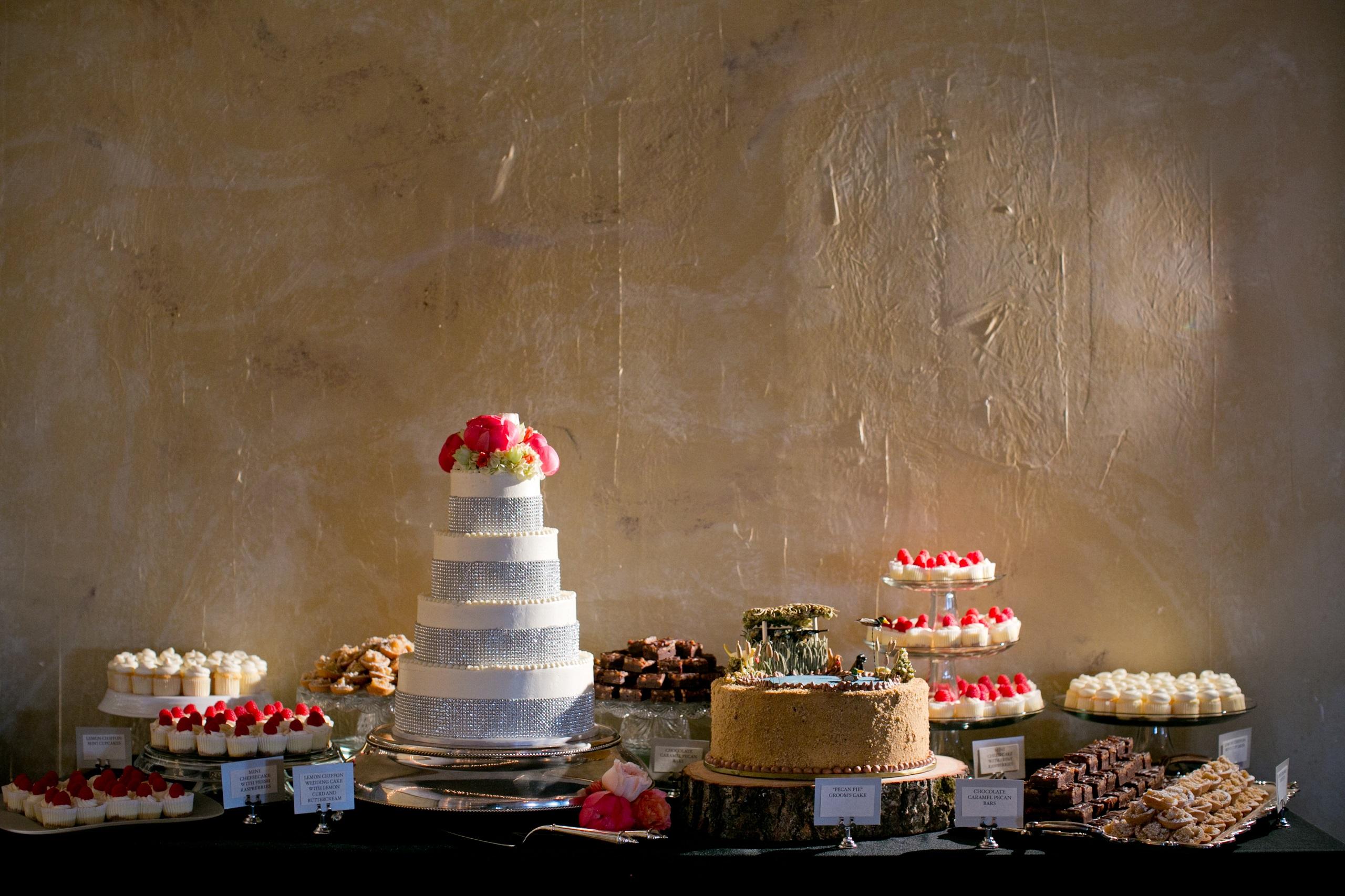 bling bridal cake dessert table