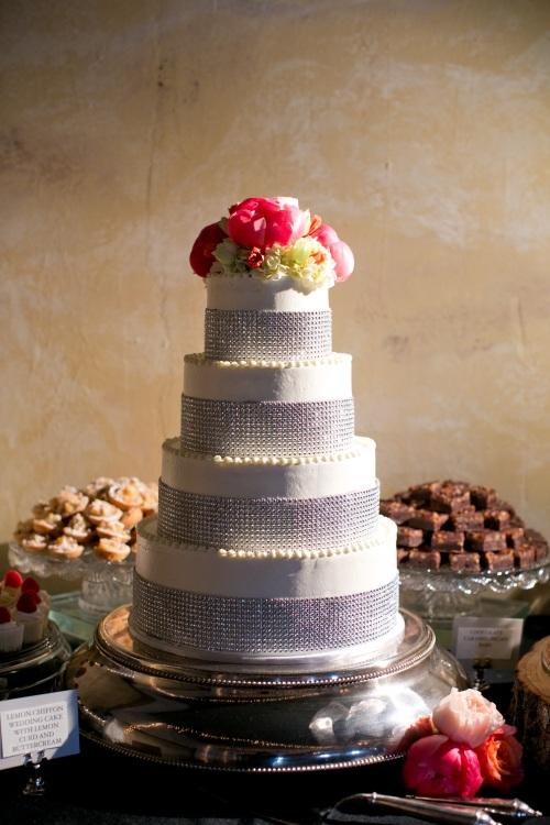 bling bridal cake