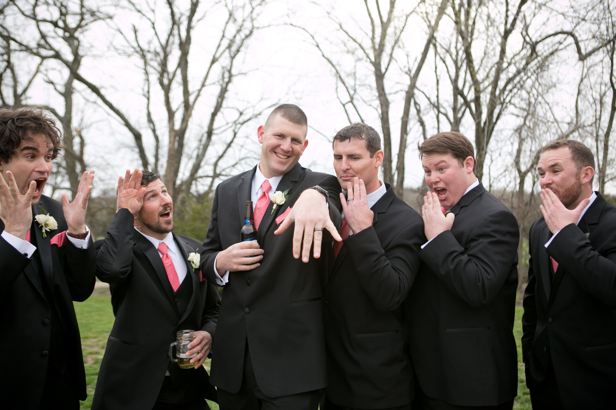 grooms and groomsman