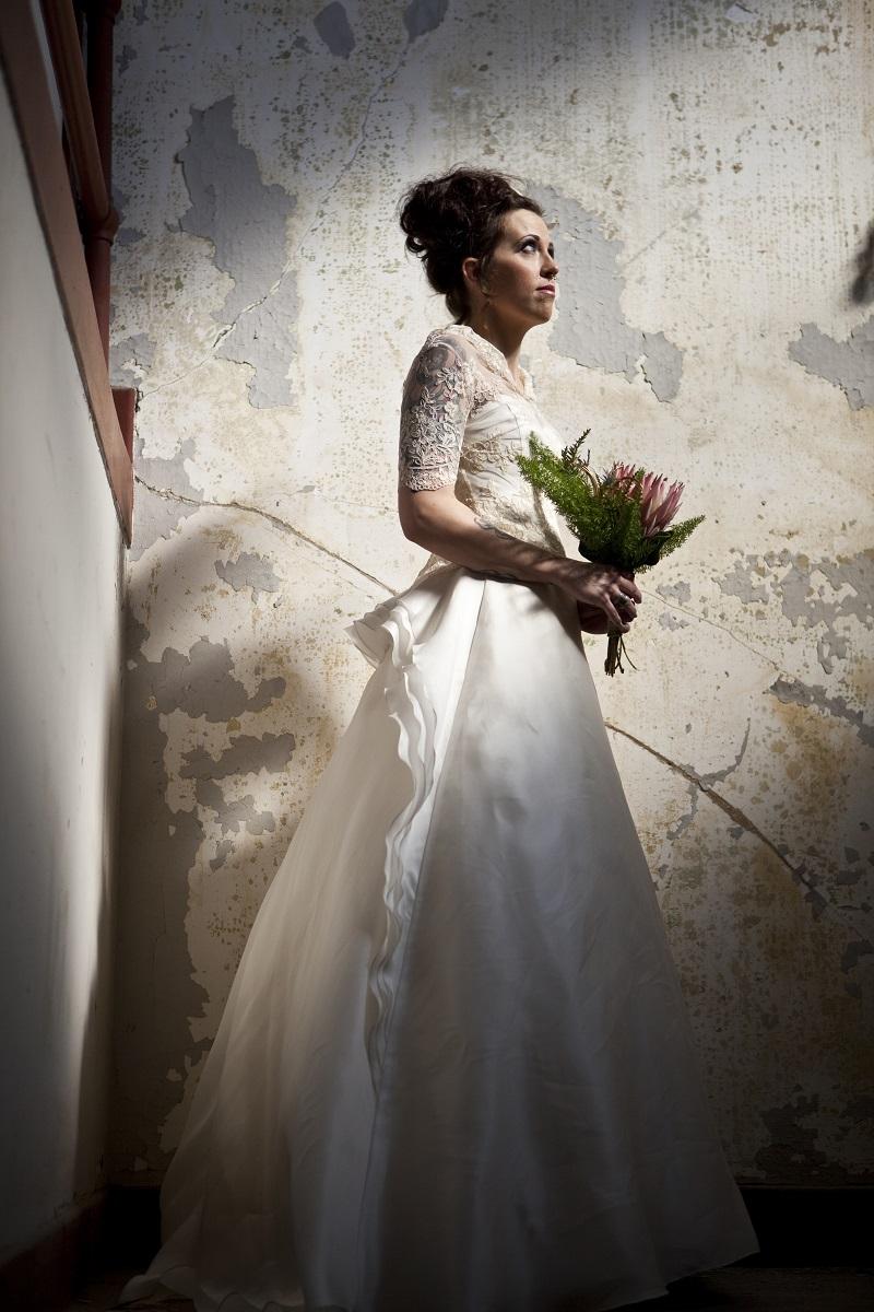 protea bouquet bride