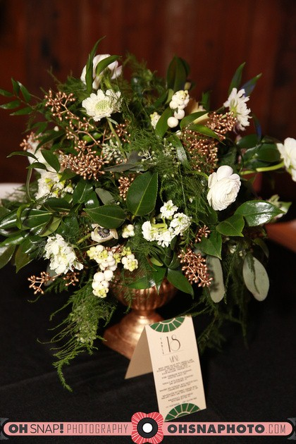 gold footed centerpiece
