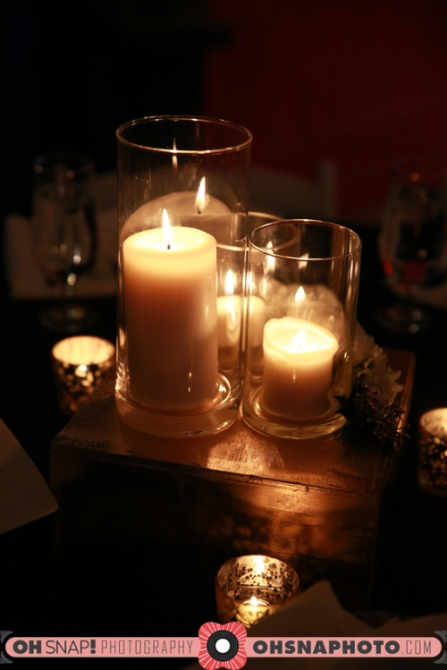 candle trio centerpiece