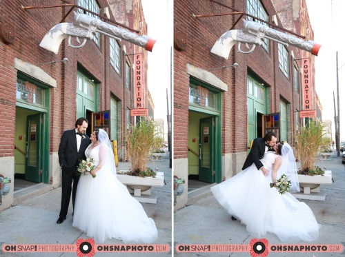 Foundation bride and groom