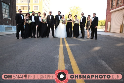 Kansas City bridal party