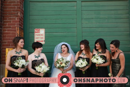 Gatsby inspired bridesmaids