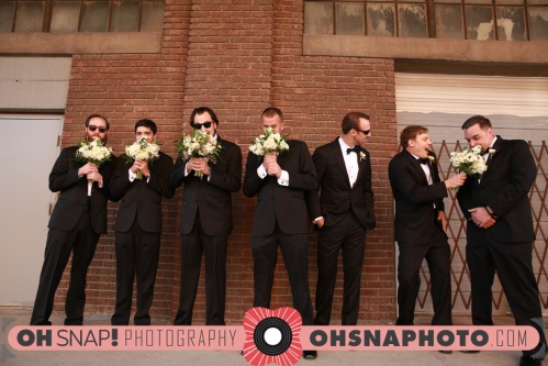 Black tuxe groomsmen