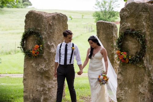 Circle S Ranch Wedding Couple