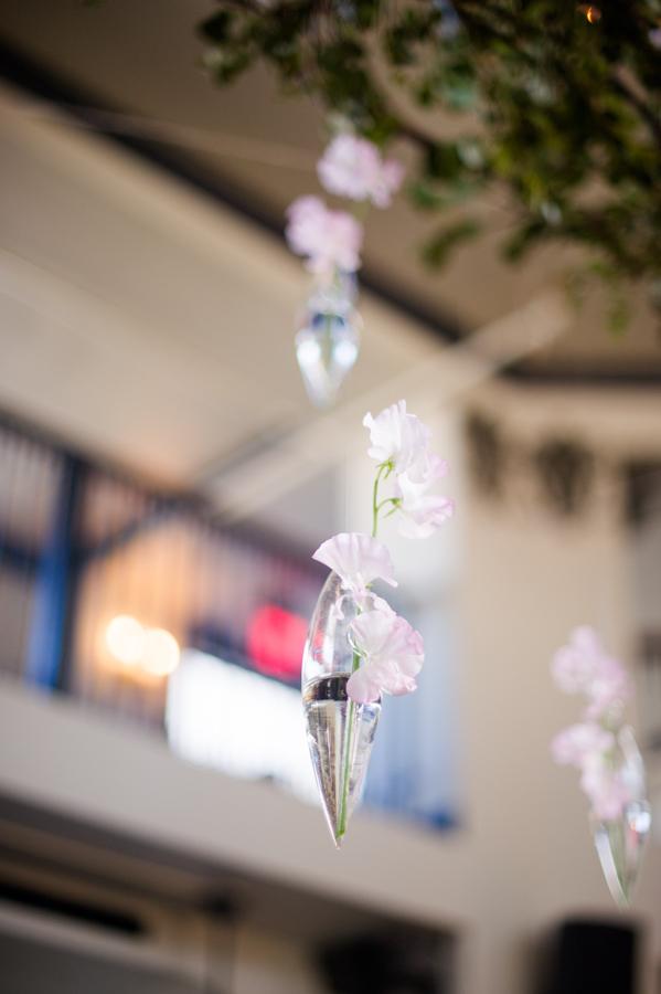 Sweet Pea in floating vase