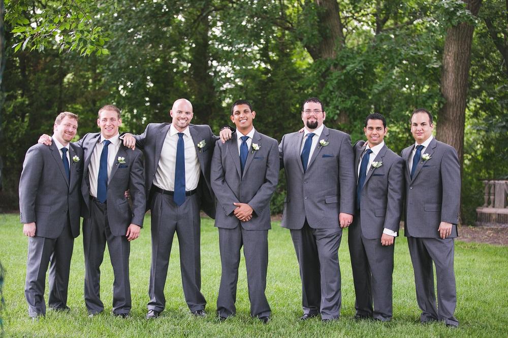 charcoal grey groomsmen