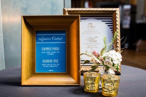 alice in wonderland wedding bar menu