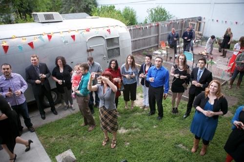 backyard kansas city wedding