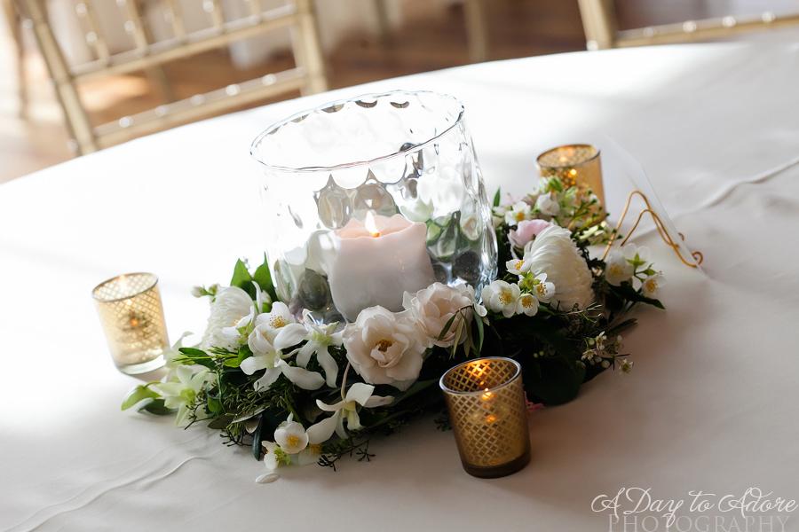 candle wreath centerpiece