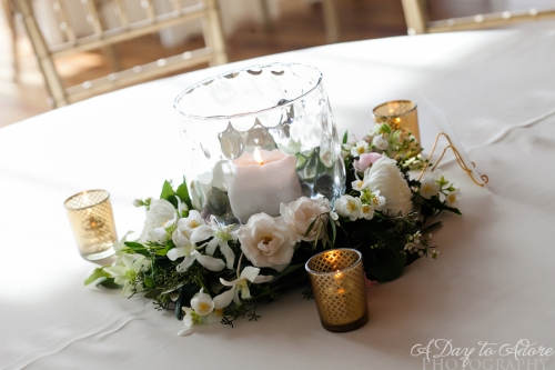 candle wreath centerpiece